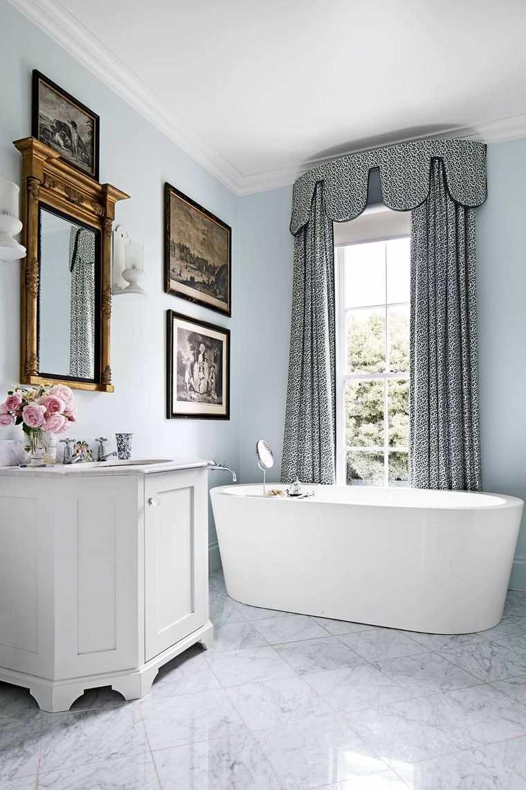 tipos de cortinas baño