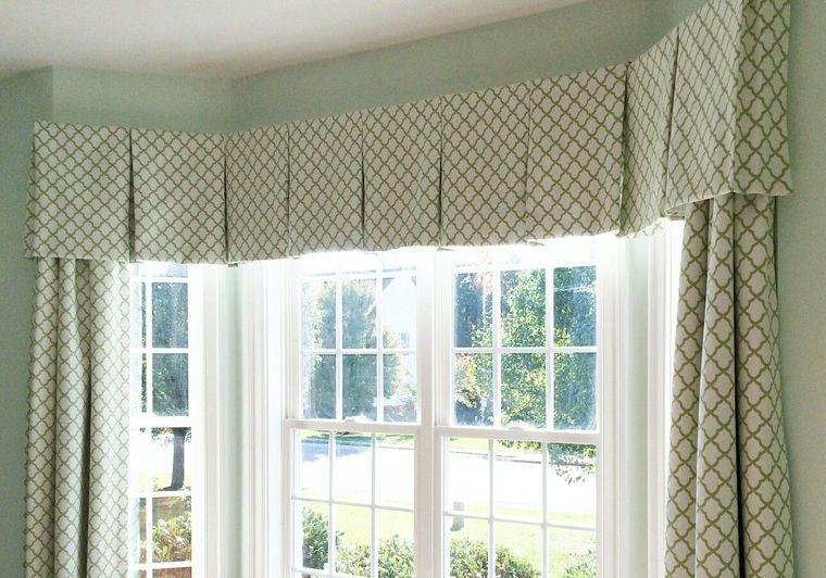 tipos de cortinas cenefa