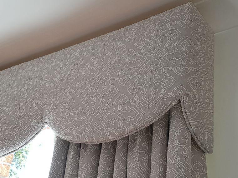 tipos de cortinas con pelmets