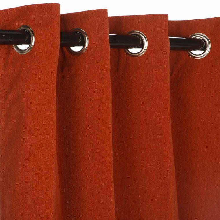 tipos de cortinas ojales
