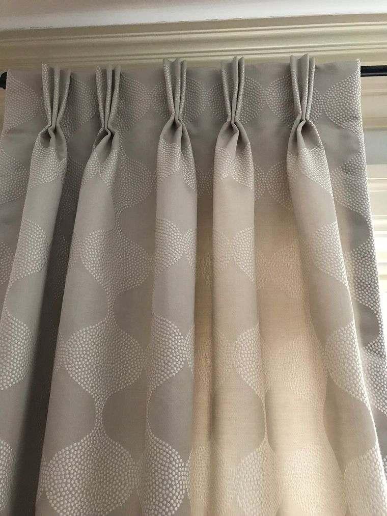 tipos de cortinas plisado frances