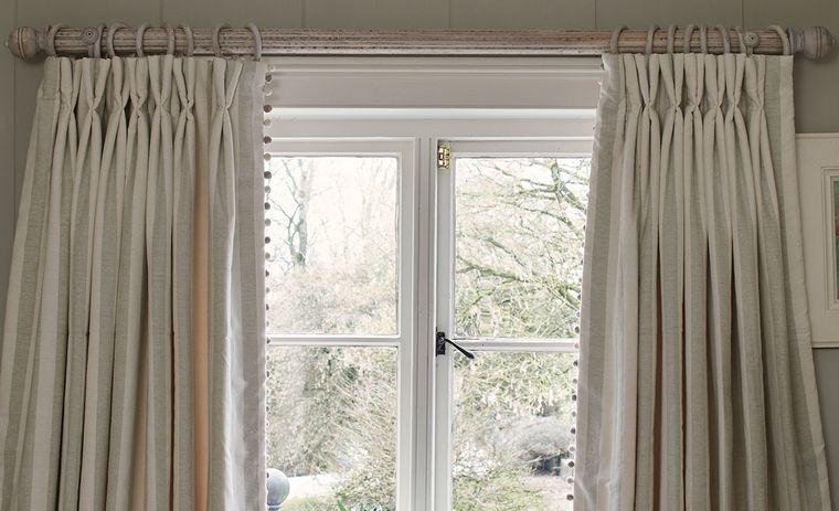 tipos de cortinas poste para colgar