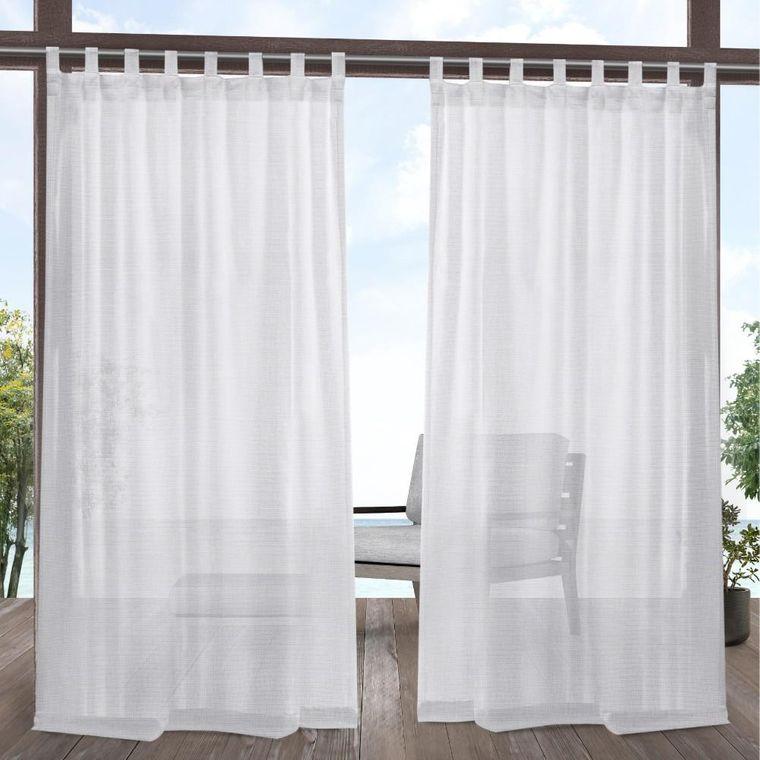 tipos de cortinas tab top