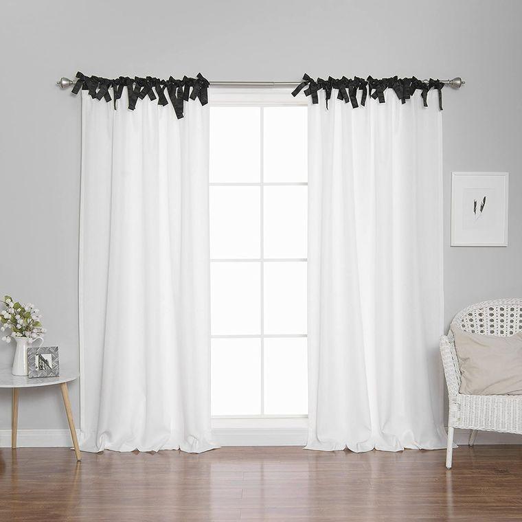 tipos de cortinas tie top