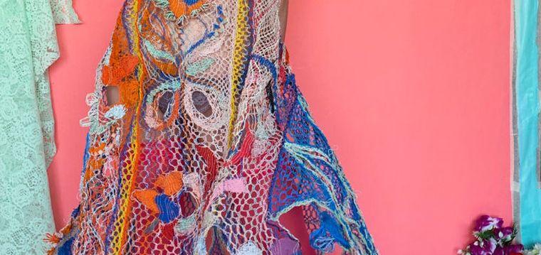 vestidos originales tejido cable electrico