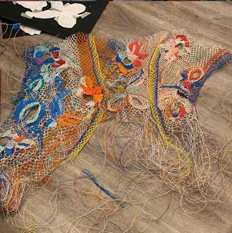 vestidos originales tejidos cable