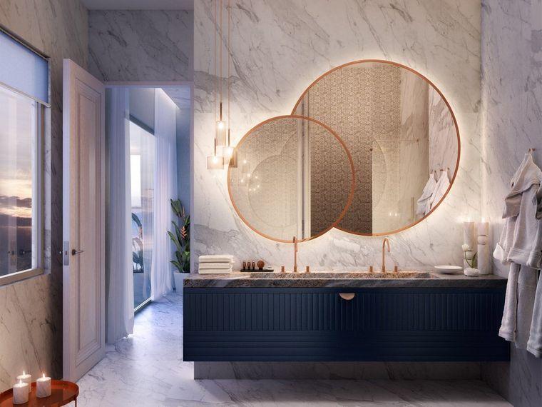 baños modernos 2020 espejos
