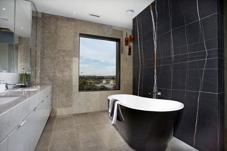baños modernos acentos color negro