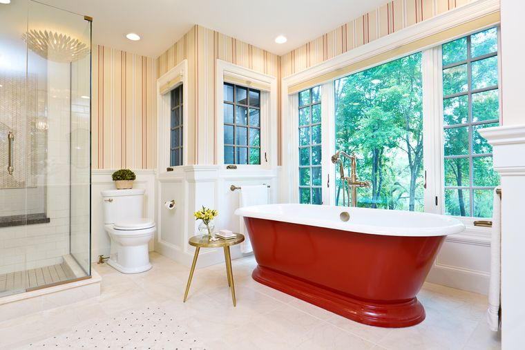 baños modernos acentos de colores