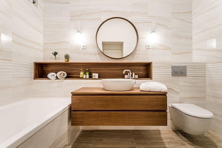 baños modernos acentos madera