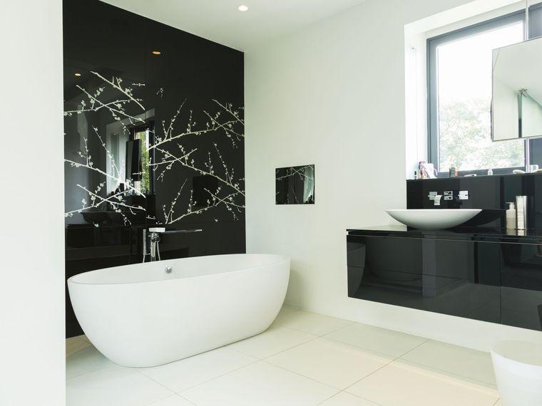 baños modernos acentos negros