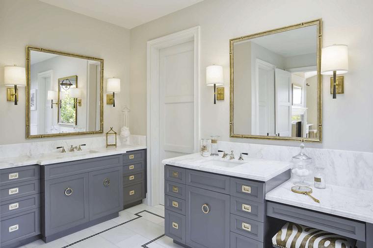 baños modernos acentos oro