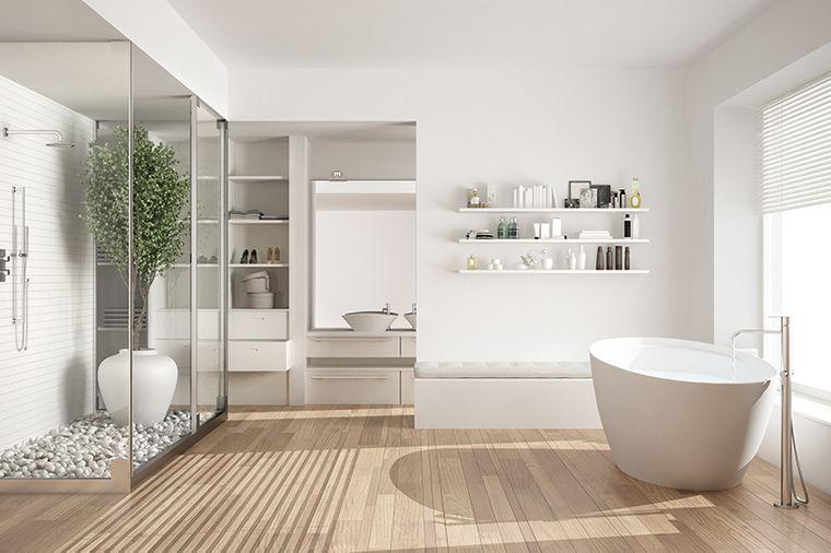 baños modernos blanco