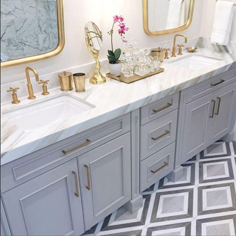 baños modernos oro laton