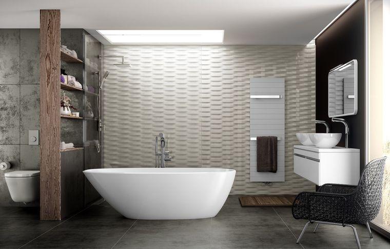 baños modernos papel tapiz