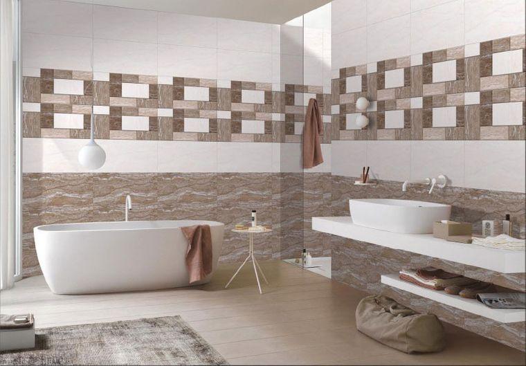 baños modernos tonos terrosos