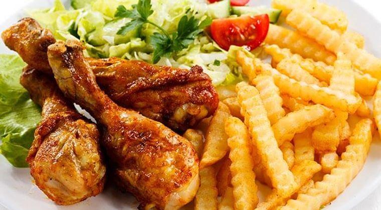 combinación de alimentos dañina frituras