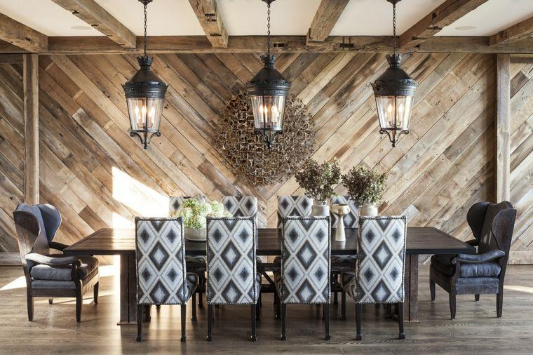 comedores modernos lamparas linternas
