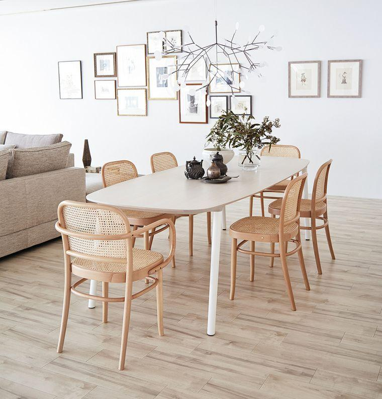 comedores modernos sillas mimbre