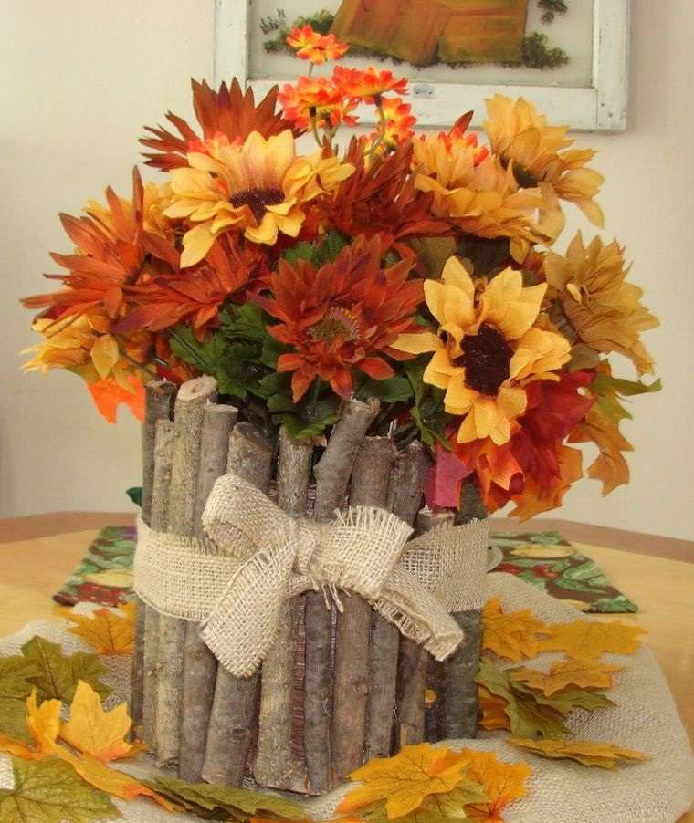 decoración florero ramas