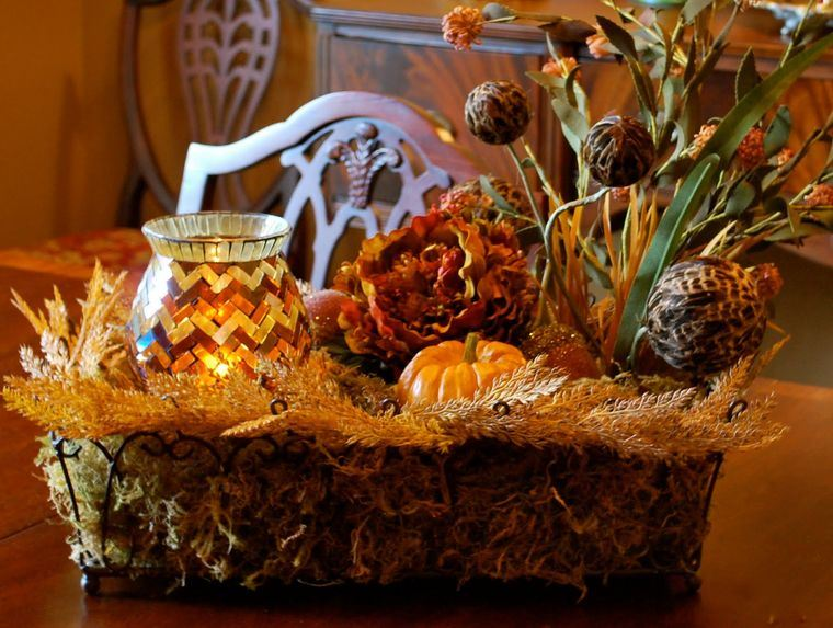 decoración lindo centro de mesa