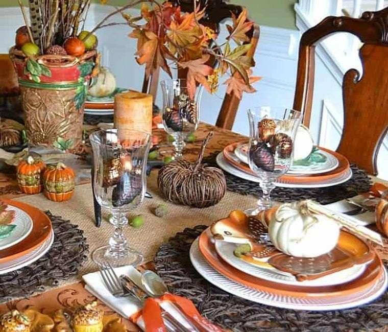 decoración mesa colorida