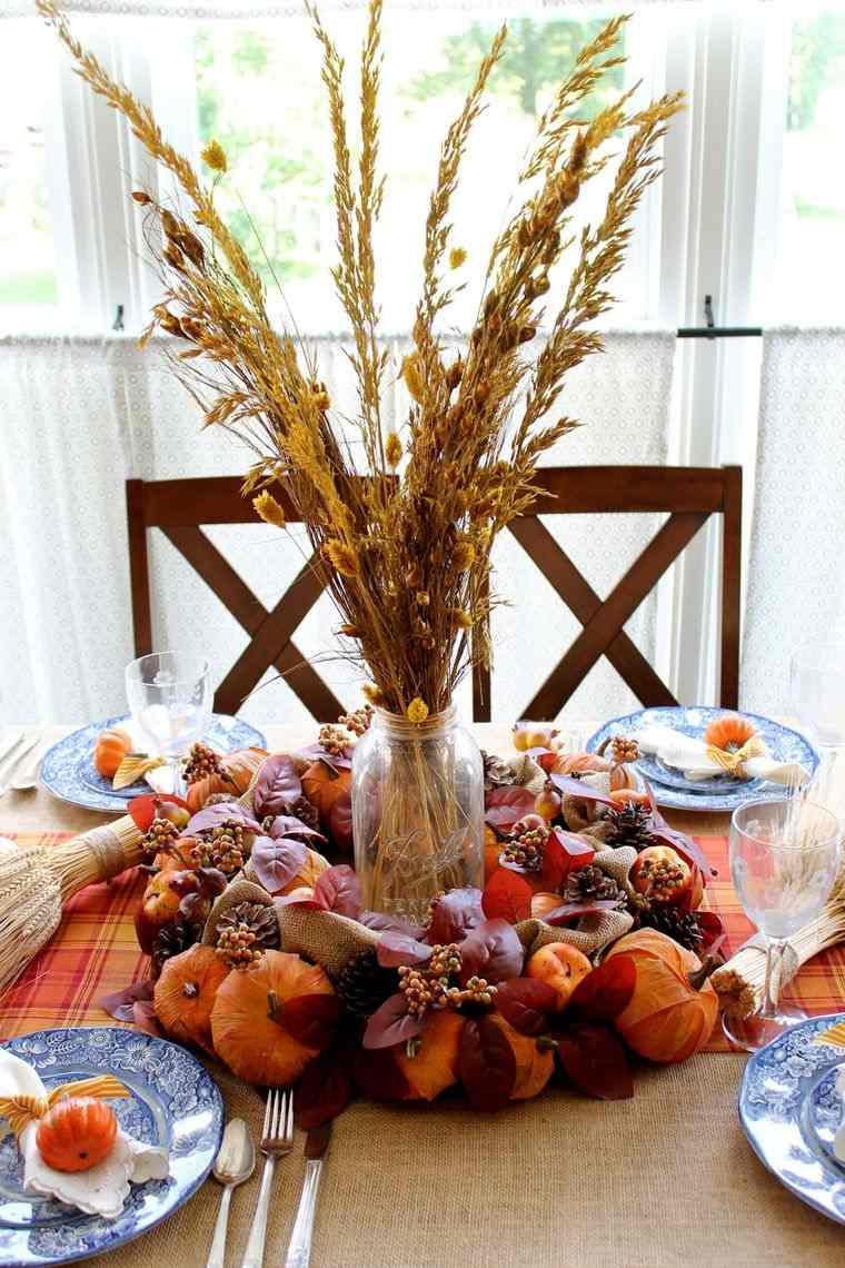 decoración mesa ramo