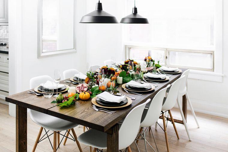 decoración mesa sencilla