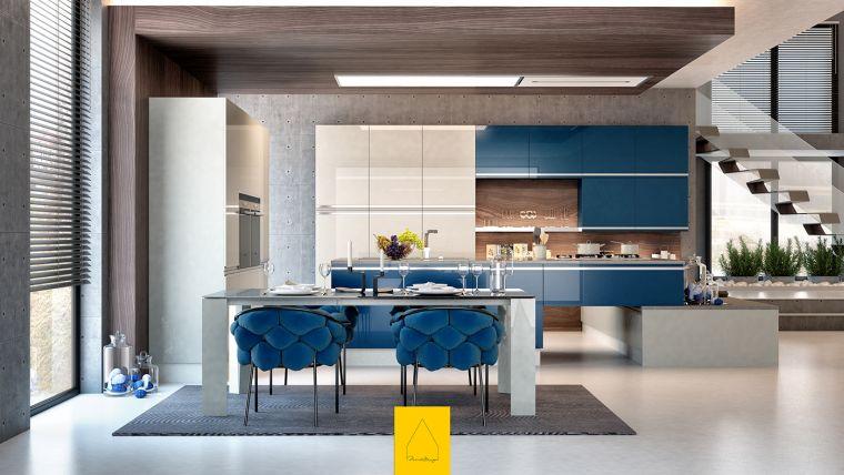 diseños para cocinas-comedor-sillas