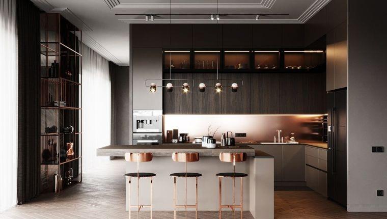 diseños para cocinas-detalles-dorados-cocina