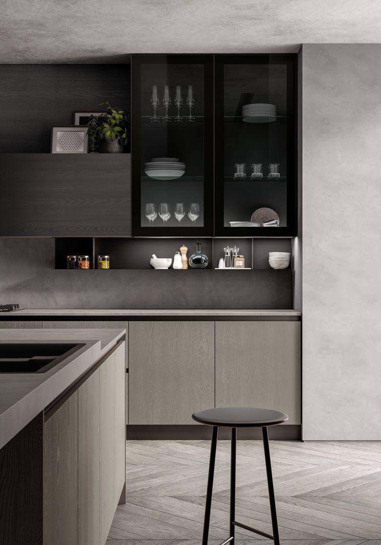 diseños para cocinas -diseno-color-gris