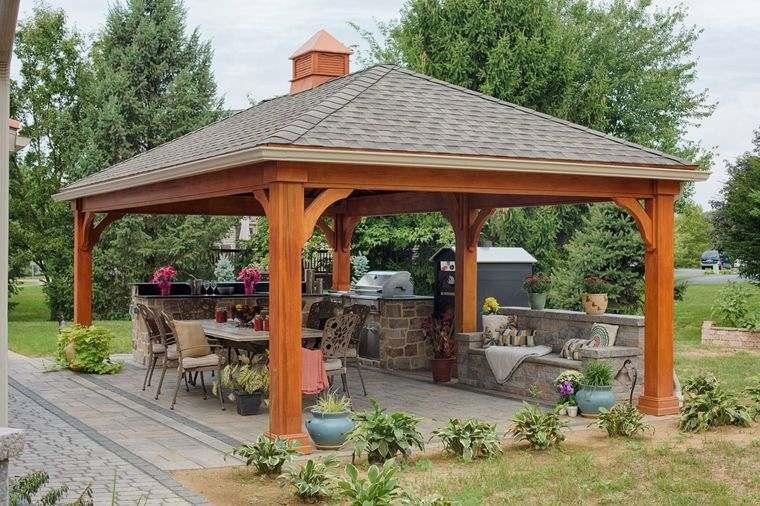 elementos arquitectónicos pabellon patio