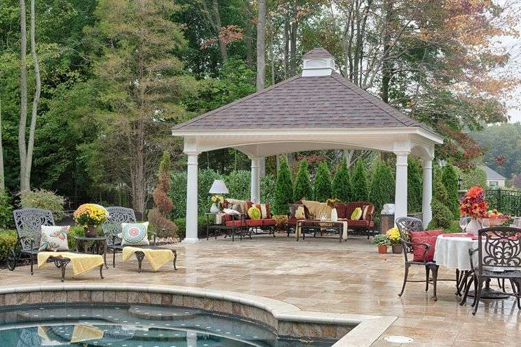 elementos arquitectónicos pabellon piscina