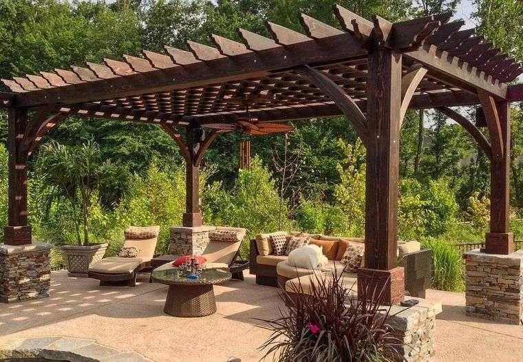 elementos arquitectónicos pergola jardin