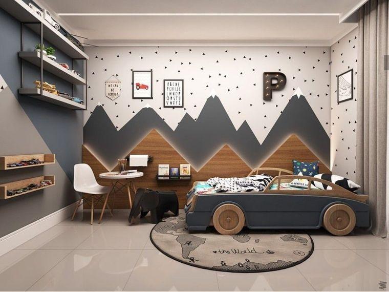 habitaciones infantiles cama carro