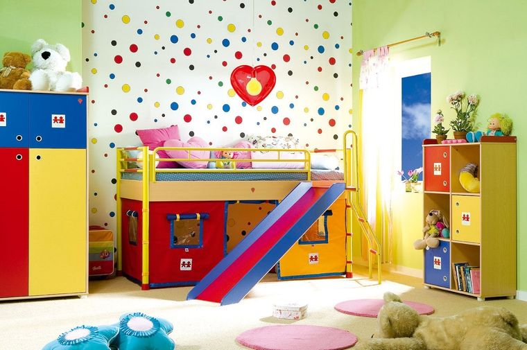 habitaciones infantiles colores alegres