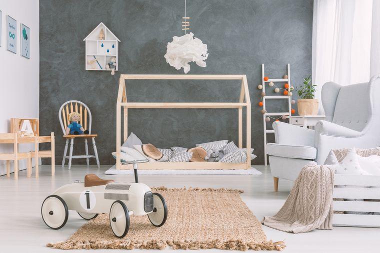 habitaciones infantiles con textura