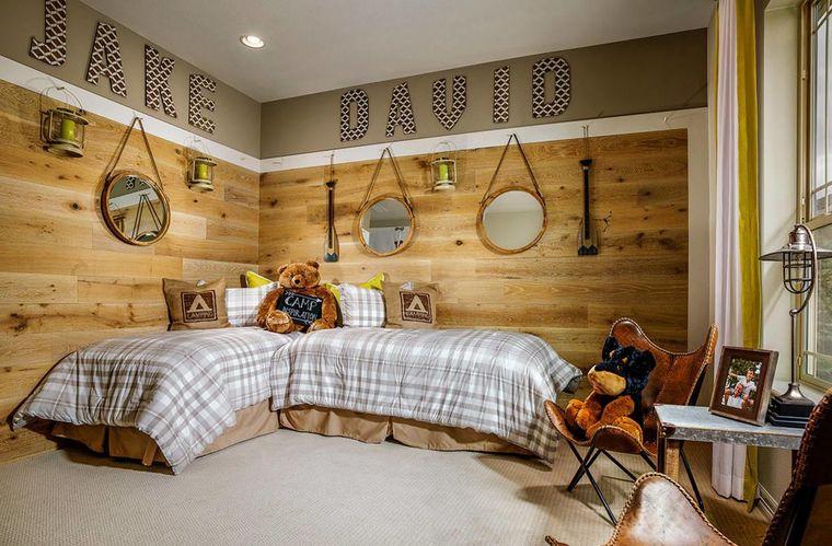 habitaciones infantiles diseño rustico