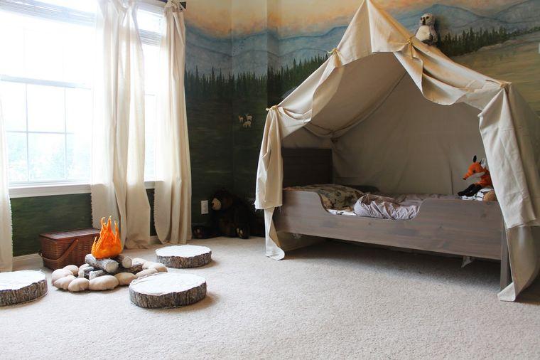 habitaciones infantiles estilo camping