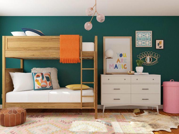 habitaciones infantiles madera
