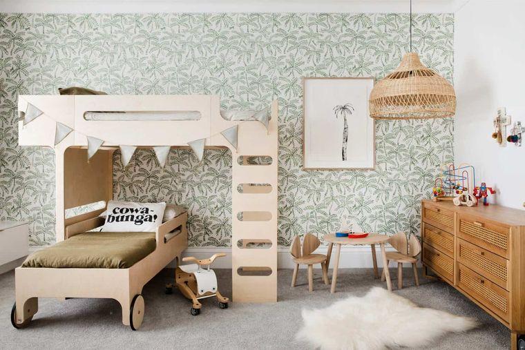 habitaciones infantiles papel tapiz
