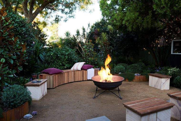 la fogata moderna jardin