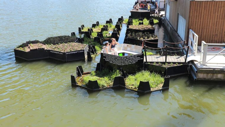 los jardines flotantes en europa