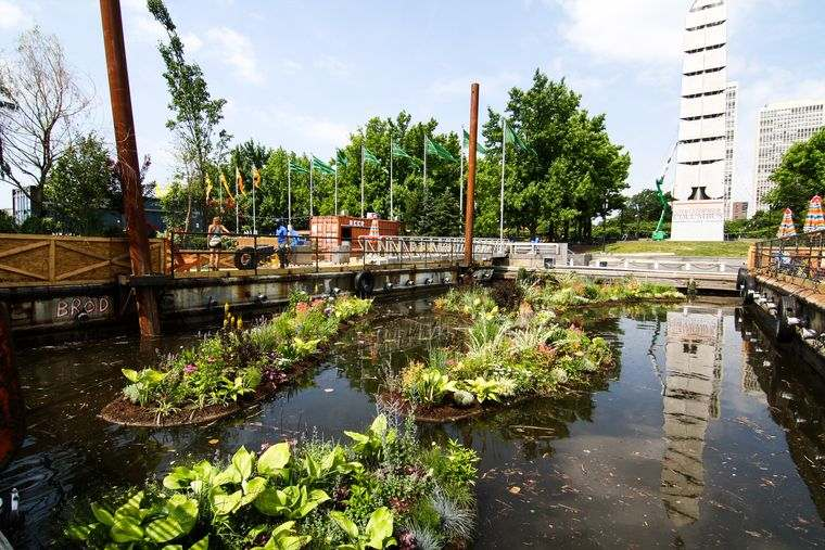 los jardines flotantes paisaje
