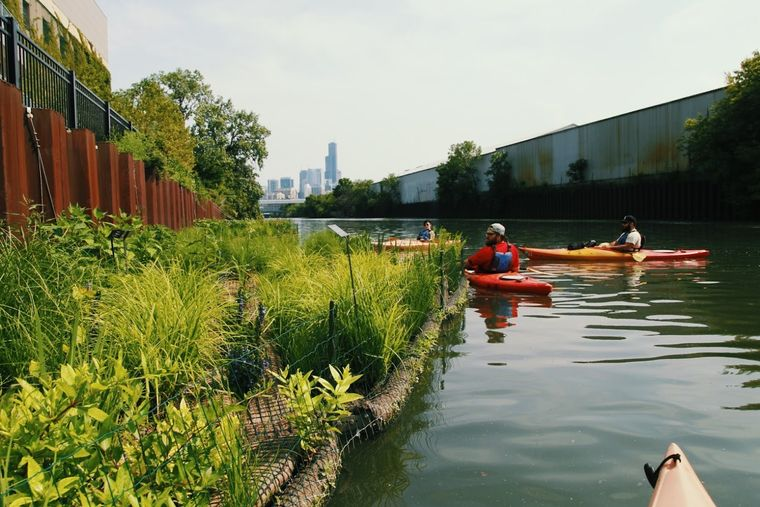 los jardines flotantes para cultivo
