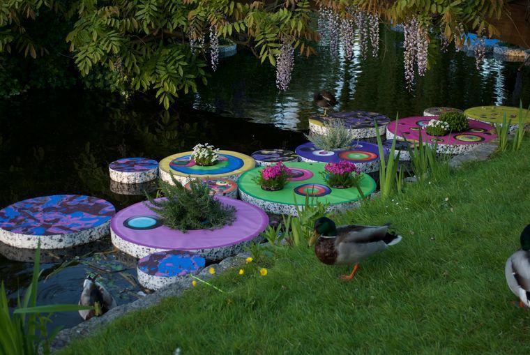 los jardines flotantes pequeños