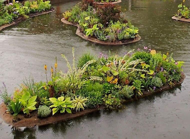 los jardines flotantes sostenible