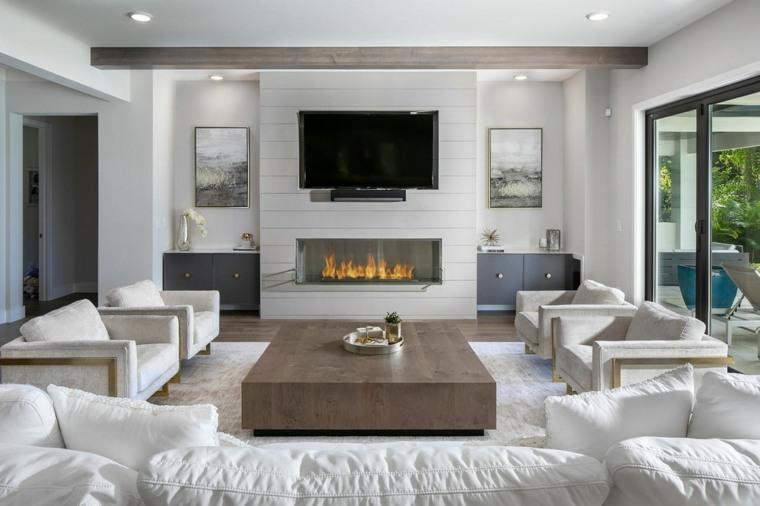 muebles-blancos-salon-ideas