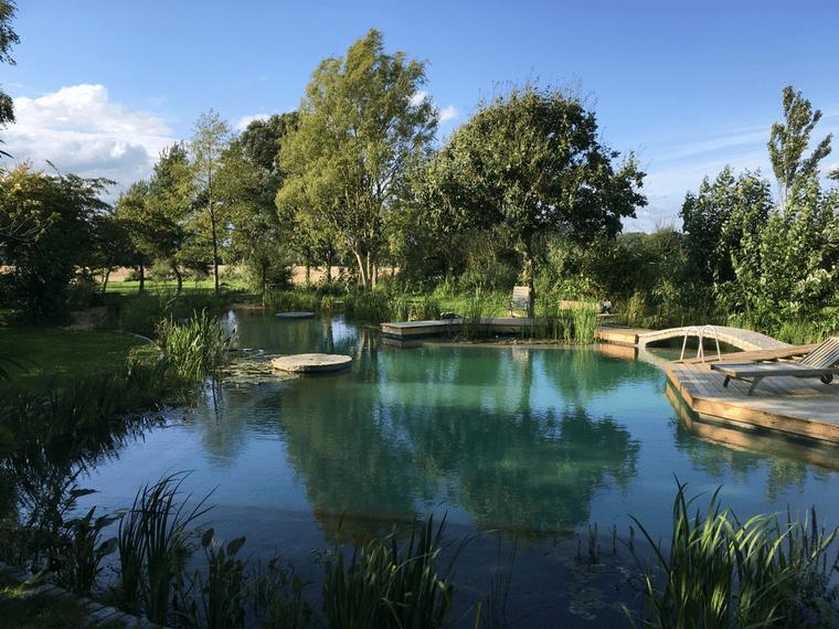 piscina natural arboles