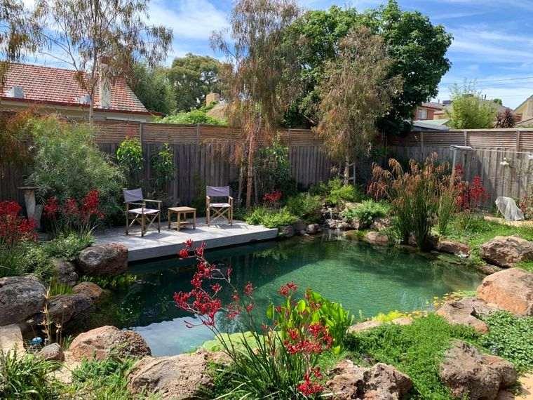 piscina natural colorida